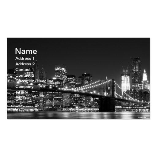 Brooklyn Bridge At Night New York City Business Card