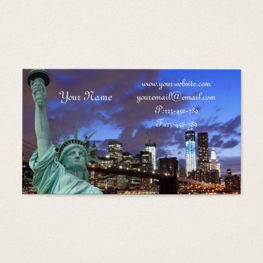 Brooklyn Bridge At Night, New York City Business Card