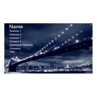 Brooklyn Bridge At Night, New York City Business Cards