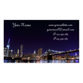 Brooklyn Bridge At Night, New York City Business Card Templates