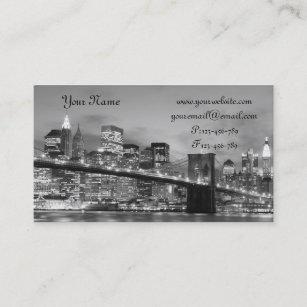 Brooklyn bridge york business cards templates zazzle brooklyn bridge at night new york city business card reheart Images