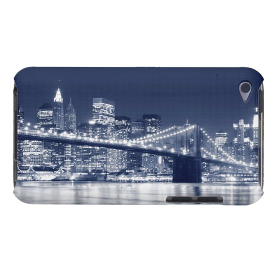 Brooklyn Bridge at Night, New York City iPod Case-Mate Case