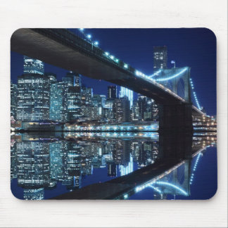 Brooklyn Bridge at Night, New York City Mouse Pad