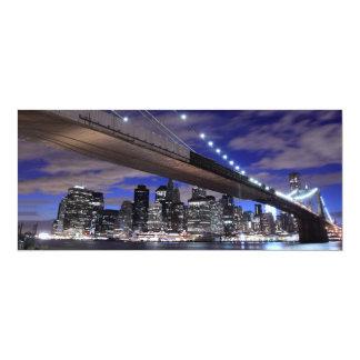 Brooklyn Bridge at Night, New York Invitations