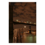 Brooklyn Bridge at Night Poster
