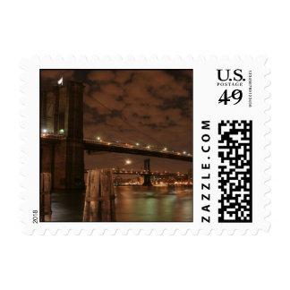 Brooklyn Bridge at Night Stamp