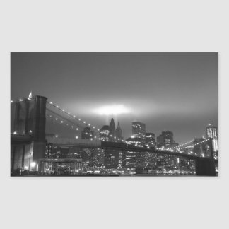 Brooklyn Bridge at Night - Stickers