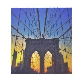 Brooklyn Bridge At Sunset Notepad