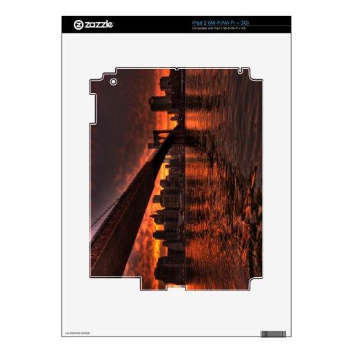 Brooklyn Bridge at Sunset Skins For iPad 2