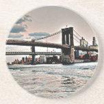 Brooklyn Bridge Beverage Coaster