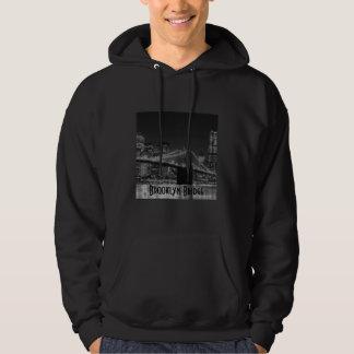 Brooklyn Bridge Black/White Logo Hooded Sweater
