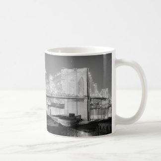 Brooklyn Bridge Black White Coffee Mug