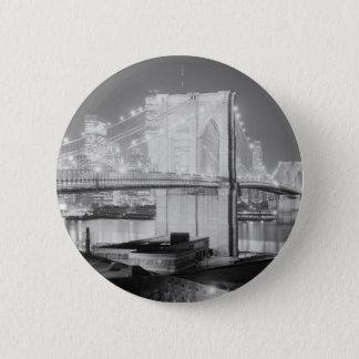 Brooklyn Bridge Black & White Pinback Button