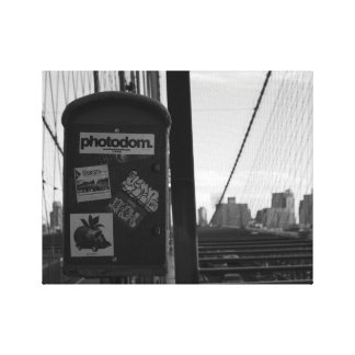 Brooklyn Bridge box Canvas Print