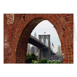 Brooklyn Bridge Brick Arch Card