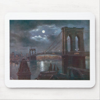 Brooklyn Bridge by Moonlight Mouse Pad