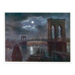 Brooklyn Bridge by Moonlight Post Card