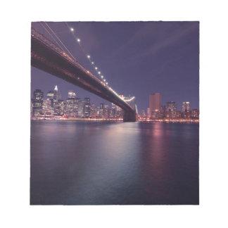 Brooklyn bridge by Night Note Pad