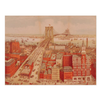 Brooklyn Bridge, c.1883 Postcard