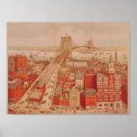 Brooklyn Bridge, c.1883 Print
