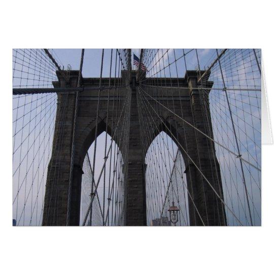 Brooklyn Bridge Cables Card