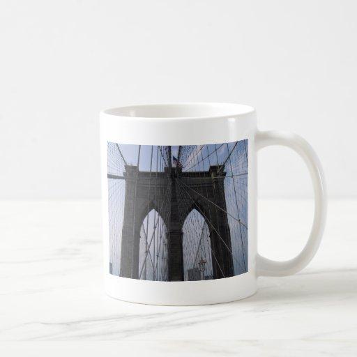 Brooklyn Bridge Cables Classic White Coffee Mug