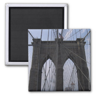 Brooklyn Bridge Cables 2 Inch Square Magnet