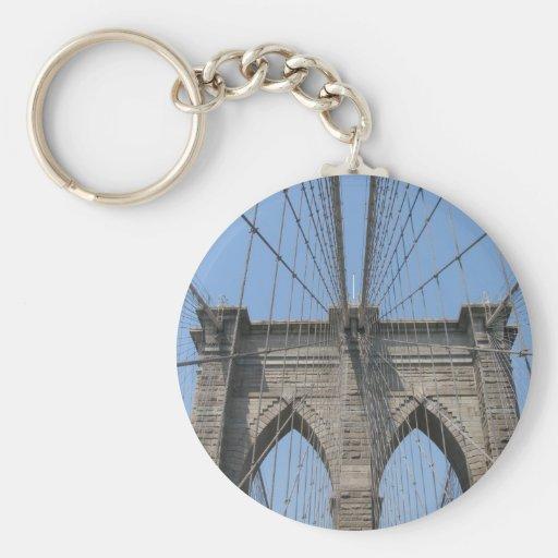 Brooklyn Bridge case/card Basic Round Button Keychain