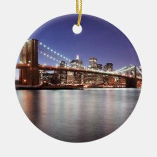 Brooklyn Bridge Ceramic Ornament