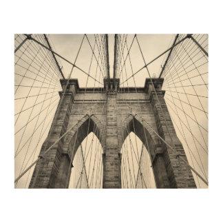 Brooklyn Bridge Close Up Architectural Detail Wood Wall Art