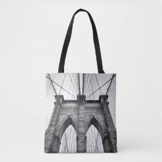 Brooklyn Bridge Closeup Architectural Detail Tote Bag