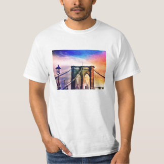 Brooklyn Bridge - Colorful - New York City T-Shirt