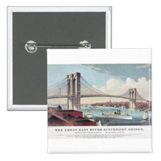 Brooklyn Bridge Currier and Ives Vintage Print Pins