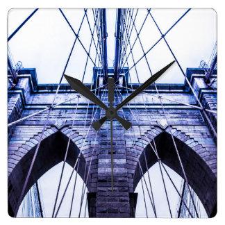 Brooklyn Bridge Design Square Wall Clock