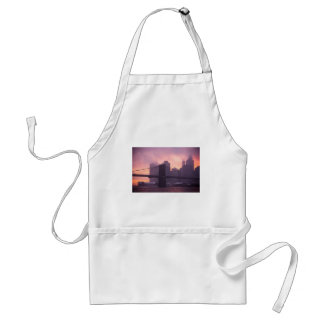 Brooklyn Bridge During Snowstorm Adult Apron