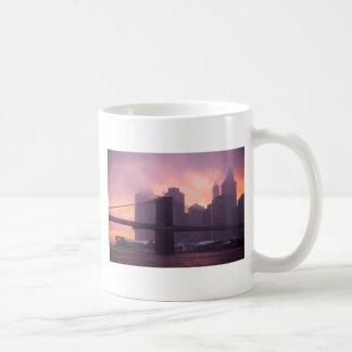 Brooklyn Bridge During Snowstorm Classic White Coffee Mug