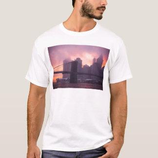 Brooklyn Bridge During Snowstorm T-Shirt