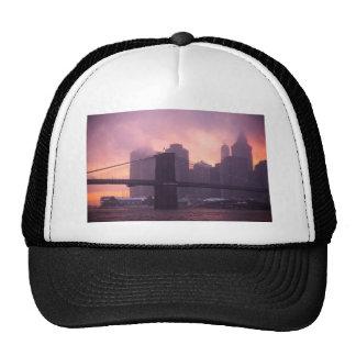 Brooklyn Bridge During Snowstorm Trucker Hat