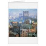Brooklyn Bridge, East River, circa 1916 Cards