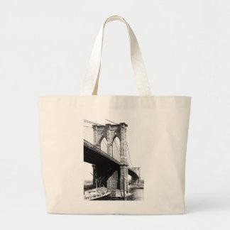 Brooklyn Bridge Ferry Boats 1896 Tote Bags