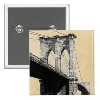 Brooklyn Bridge Ferry Boats 1896 Pin