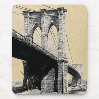 Brooklyn Bridge Ferry Boats 1896 Mouse Pad