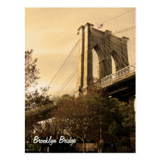 Brooklyn Bridge from Brooklyn Postcard