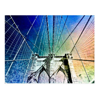 Brooklyn Bridge - Frozen in Ice - NYC Postcard