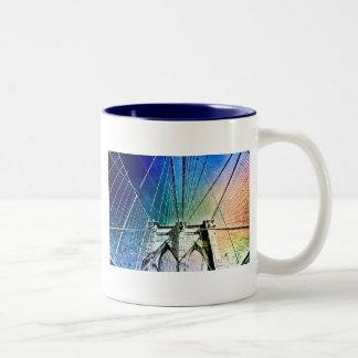 Brooklyn Bridge - Frozen in Ice - NYC Two-Tone Coffee Mug