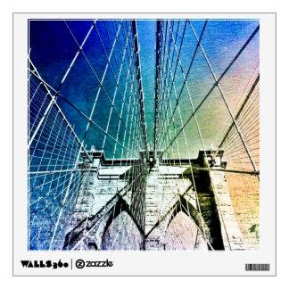 Brooklyn Bridge - Frozen in Ice - NYC Wall Sticker