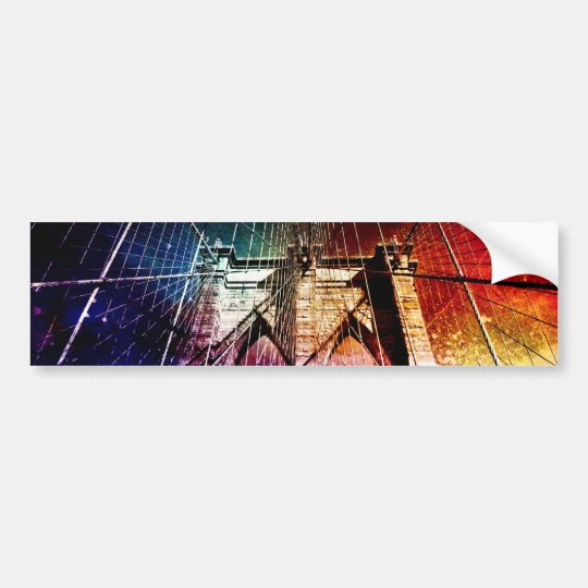 Brooklyn Bridge - Galaxies - NYC Bumper Sticker