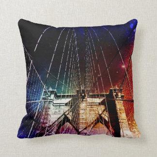Brooklyn Bridge - Galaxies - NYC Throw Pillow