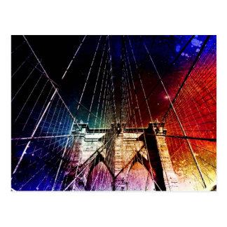 Brooklyn Bridge - Galaxies - NYC Postcard
