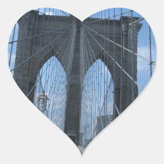 brooklyn bridge heart sticker